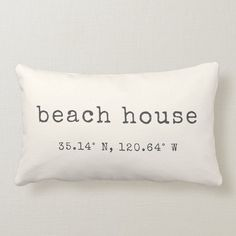 Show your love for your beachside abode with our custom coordinates lumbar throw pillow. Shown with house decor seaside house decor rustic beach house decor house decor coastal style beach house decor Beach Condo, Beach House Decor, Beach Homes, Beach House Bedroom, Beach Cottage Bedrooms, Beach Apartment Decor, Chic Beach House, Beach Room, Coastal Bedrooms