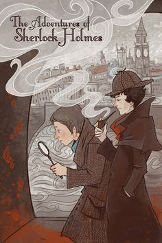 Sherlock Holmes Literary poster12x18 print - I might need to get this print too!