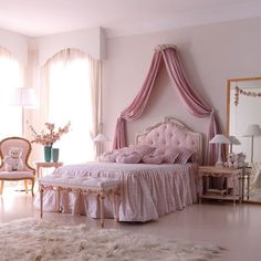 How To Completely Change Your Room To Vintage Princess Bed Shabby Chic. Bedroom design is often discussed when designing, organizing and decorating a . Luxury Bedroom Design, Girl Bedroom Designs, Room Ideas Bedroom, Bedroom Decor, Dream Rooms, Dream Bedroom, Master Bedroom, Princess Bedrooms, Princess Room
