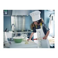 TOPPKLOCKA Kinderschürze und Kochmütze  - IKEA