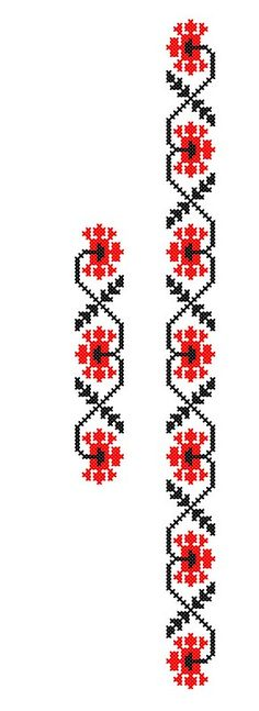 FL307 | www.binecusut.ro | Flickr Hand Embroidery Patterns, Beaded Embroidery, Cross Stitch Patterns, Traditional Dresses, Perler Beads, Floral Tie, Folk Art, Knitting, Handmade
