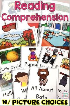 Help your students practice and demonstrate their understanding of books with these reading comprehension texts. Picture choices are included so students of all levels can use the books. Reading and listening comprehension skills can be assessed with these books. They are ideal for special education teachers, life skills programs, remedial reading, speech therapy, reading centers, direct instruction, reading assessment and more!