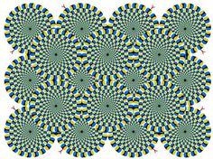 Mirá detenidamente cada círculo y vas a ver que están quietos.