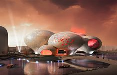 """Comic and Animation Museumin Hangzhou, China (planned), by MVRDV  Yes, those are in fact giant """"speech bubbles""""."""