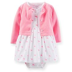 Carter's Baby Girls 2-piece Bodysuit Dress with Cardigan Sweater Set (9 Months, Pink Flamingo), http://www.amazon.co.uk/dp/B00VGWZ5KG/ref=cm_sw_r_pi_awdl_ZwSAvb0G7C3Q6