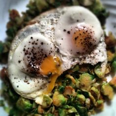 The Adventures of Kitchen Girl: Hashed Brussles Sprouts with Eggs