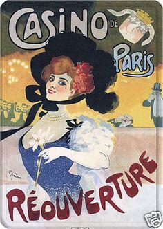 """""""Casino de Paris Reouverture"""" ~ Late Art Nouveau era French poster"""