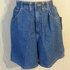 "NWT Lee denim high waist shorts Relaxed fit. Sides have elastic for comfort. These have a high waist. Total length from waist to hem is 17"" and inseam is only 5.5"" waist is 24"" but stretches to 28"". Typical front pockets and no back pockets. Lee Shorts Jean Shorts"