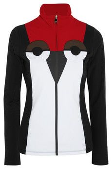 handy for skiing & Love how they have faces!  too costly though, my poloSport stretch jersey (Marshalls steal) is just fine for layering.  a girl can dream though... Fendi Creatures stretch-jersey top | NET-A-PORTER