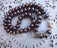 Free ship!!! Amazing natural freshwater pearl strand beaded necklace charm design pearl necklace US $18.36