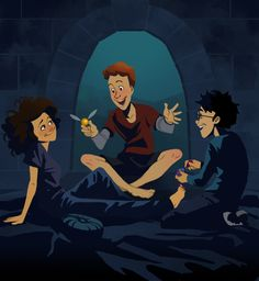 Now that the Harry Potter movies have run their course, could the Hogwarts crew make the jump to television? This delightful fan art makes a strong case for a Harry Potter animated series, showing us a bit more of the down time at Hogwarts.
