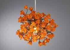 Chandeliers.+Orange+flowers.+by+yehudalight+on+Etsy,+$129.00