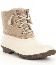Oyster/Oatmeal:Sperry Saltwater Waterproof Duck Boots