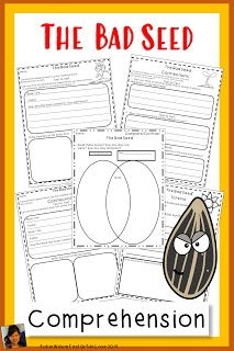 9 Activities with The Bad Seed Comprehension Activities Guided Reading Table, Reading Stations, Comprehension Activities, Reading Activities, Robin Wilson, Text To World, Text To Text Connections, Text To Self, The Bad Seed