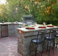 Eine Outdoor Küche Ist Eine Praktische Einrichtungslösung Und Eine Sehr  Günstige Anlage.Wenn Wir Feier