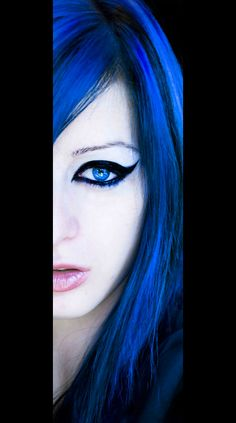 Blue with a striking black eye accent!