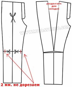 Two different ways to add pleats to pant fronts