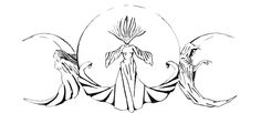 The symbol for the triple Goddess (maiden, mother and crone) is a circle with two inverted crescents on the side.