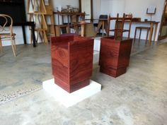 Jarrah bedside tables made by Michael