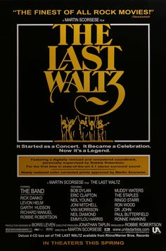 """Film: The Last Waltz (1978) Year poster printed: 2002 Country: USA Size: 27""""x 40"""" """"It started as a Concert. It became a celebration"""" This is a vintage one-sheet movie poster from 2002 for a theatrical"""