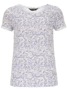 Lilac lace print tee