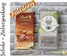 Anleitung schokolade lindt verpacken verpackung Ziehverpackung geschenk mitbringsel stampin up stempeltier merci pour toi