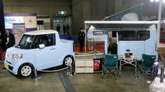 Honda's N-Truck and N-Camp concepts on display at the 2015 Japan Camping Car Show in Tokyo...