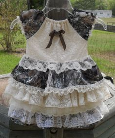 Hey, I found this really awesome Etsy listing at https://www.etsy.com/listing/185100828/little-girls-camo-and-lace-something