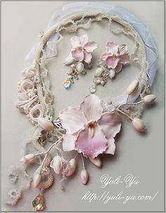 Pearls and orchids - so beautiful!! Yuli Ya