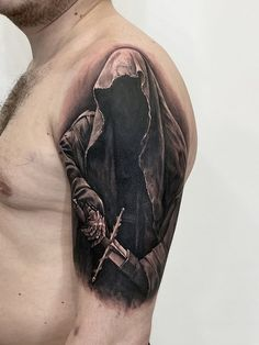 Timofey Levin - List of tattoo master's works Evil Tattoos, Biker Tattoos, Warrior Tattoos, Dope Tattoos, Body Art Tattoos, Forearm Cover Up Tattoos, Cover Up Tattoos For Men, Sleeve Tattoos For Women, Tattoos For Guys