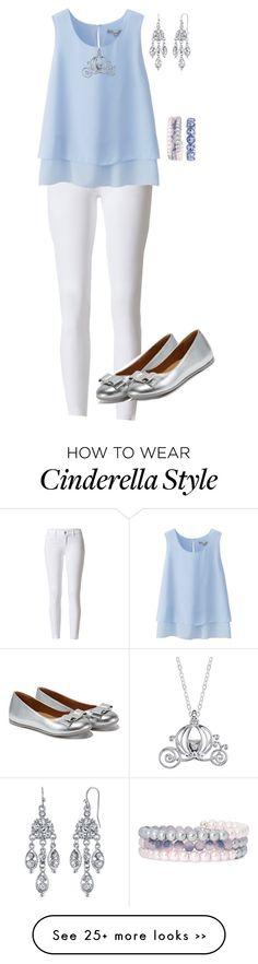 Designer Clothes, Shoes & Bags for Women Princess Inspired Outfits, Disney Princess Fashion, Summer Outfits, Girl Outfits, Cute Outfits, Fashion Mode, Womens Fashion, Cinderella Outfit, Disney Bound Outfits