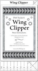 "Deb Tucker's Wing Clipper ruler is used to trim down flying geese units from 1/2"" x 1"" all the way up to 5"" x 10"" in 1/2"" increments. The Wing Clipper II does the same task but for flying geese units in 1/4"" and 3/4"" increments. I love to make flying geese a little bit larger then needed, then trim down to the perfect size."