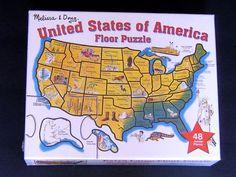 Melissa & Doug Floor Puzzle United States of America 2 x 3 feet 48 Jumbo Pieces #MelissaDoug