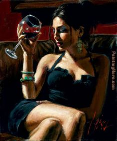 Fabian Perez Tess IV painting is shipped worldwide,including stretched canvas and framed art.This Fabian Perez Tess IV painting is available at custom size. Fabian Perez, Art Du Vin, Woman Wine, Wine Art, In Vino Veritas, Erotic Art, Sensual, Figurative Art, Female Art