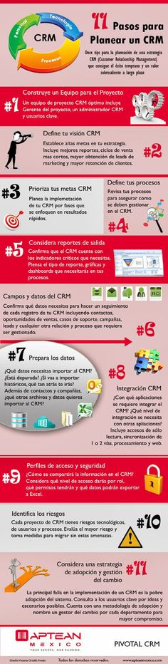 11 pasos para planear un CRM #infografia #infographic #marketing