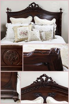 Antique Bedroom Furniture | Antique French Louis XVI Walnut Bedroom Set,  #Antique #Bed