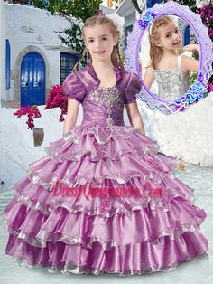 2f858e3b4c3 2017 Romantic Straps Mini Quinceanera Dresses with Ruffled Layers and  Appliques Organza Dress