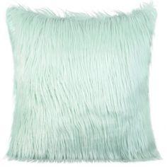 Chlpatá obliečky na vankúš 45x45 cm v mentolovej farbe Throw Pillows, Bed, Colors, Toss Pillows, Cushions, Decor Pillows, Beds, Decorative Pillows