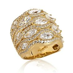 Jean Dousset 5.05ct Absolute™ Marquise Wide Band Ring
