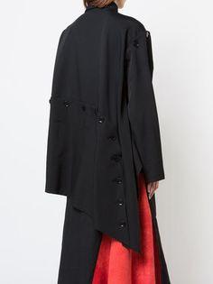 Yohji Yamamoto пальто с потайной застежкой спереди