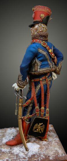 Oficial francés 9º Regimiento de Husares 1812-1815