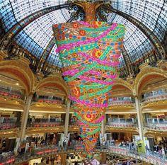 Illuminations et marchés de Noël à Paris - Galleries Lafayette 2014 mademoiselle-et-mister.blogspot.com