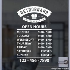 Business Open Hour with Logo Sign Style 20