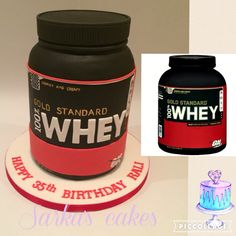 Whey protein shake bottle cake from Muscle Milk Protein Shakes, Protein Powder Shakes, Bolo Whey, Protein Bottle, Gym Cake, Fitness Cake, Fab Cakes, Bottle Cake, Protein Cake