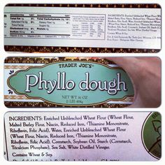 Trader Joe's Phyllo Dough. (There are so many recipes that I want to try that involve phyllo dough!