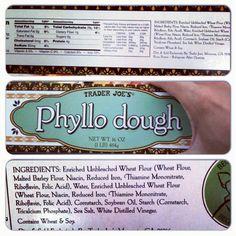Trader Joe's Phyllo Dough.