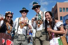 Asheville's Oktoberfest on Coxe Avenue in downtown Saturday. More than 2,500 revelers took to the streets to enjoy beer from 10 local/12 total breweries.  10/12/13. Robert Bradley (rabradle@gannett.com)