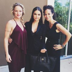 Sherri Saum, Maia Mitchell, and Teri Polo looked stunning at the Golden Globes Panel. | The Fosters