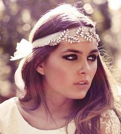 Vintage Wedding Headbands. Use lace from mothers wedding dress for added meaning