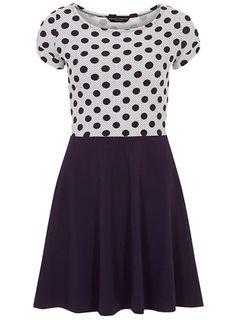 Spot 2 in 1 dress - Fit & Flare Dresses  - Dresses